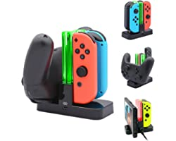 FastSnail Controller Charger Compatible with Nintendo Switch Joy-cons & OLED Model Charging Dock Station Replacement for Joy-