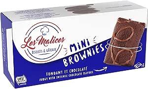 Les Malices - Mini Brownies 8 confezioni da 8 torte (1920 gr) formato famiglia - fatti in Francia