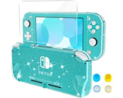 HEYSTOP Case Compatible with Nintendo Switch Lite, Protective Case PC Cover Compatible with Switch Lite with Tempered Glass S
