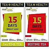 Farganic 15 Days Weight Loss Green Tea. 100% Natural and Herbal. Day Time Tea, Bed Time Tea. Slimming Tea. 30 Tea Bags…
