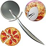 Roulette à Pizza la roulette à découper avec le manche en antidérapant Il coupe facilement les croûtes épaisses et fines et p