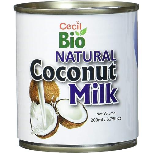 Cecil Bio latte di Cocco naturale, 18% grassi, 200 ml, confezione da 6