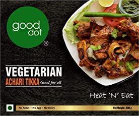 GoodDot Vegetarian Achari Tikka - Pack of 1 (White)