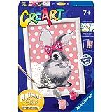 Ravensburger 28933 2 CreArt Serie E - konijnen, schilderen op nummers, creatief spel voor meisjes en kinderen, aanbevolen lee