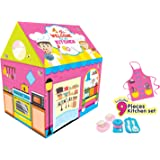 itoys Kitchen Play House Tent with Kitchen Set for Kids