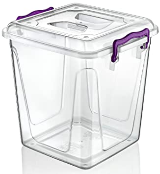 Small / Large Clear Plastic Box Ideal For Kitchen / Food / Flour / Storage  / Container / Tub / Box / Biscuits (20 Litre): Amazon.co.uk: Kitchen U0026 Home