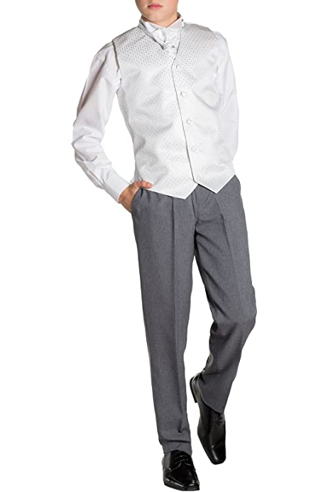 Boys Suits Paisley of London Baby Boys White /& Grey Waistcoat Suit Page Boy Suits