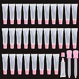Lipgloss, 30 stuks, 15 ml, navulbaar, lege lippentubes, helder, lipgloss, balsemhouder met druppelaar, vrouwen, meisjes, make