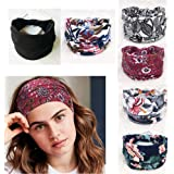 Brede vrouwen hoofdbanden - verpakking van 6 stuks draadkruisbanden Bohemia Cotton hoofdband sport haaraccessoires voor meisj