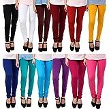 Anekaant Cotton Lycra Women's Churidar Legging Pack of 12