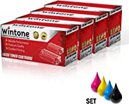 Wintone Laser Toner Cartridge CE400 401 402 403 201A 4x Set is compatible for HP Color LaserJet Pro MFP M 200 252 274 277 N