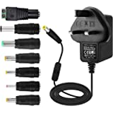 EFISH 12V 1A 12W Power Supply Adapter with Switch,Power Plug for 12V Small Electronic Devices,CCTV Camera,Routers,Hub…