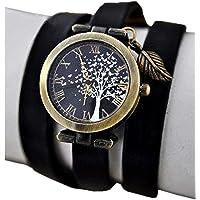 Bezaubernde Damen-Armbanduhr mit Schmetterlingsbaum - Schwarz - Uhr - Geschenk für Sie - Schmuck-Geschenk - Handmade…