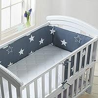 Luchild Baby Cot Bumper, Crib Bumper Wrap Around Protection 100% Cotton Crib Bumpers Bedding-180cm