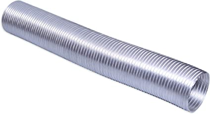 """Seavy Aluminium 4""""Pipe(100mm) Chimney Exhaust Pipe, Expandable Upto 10ft."""