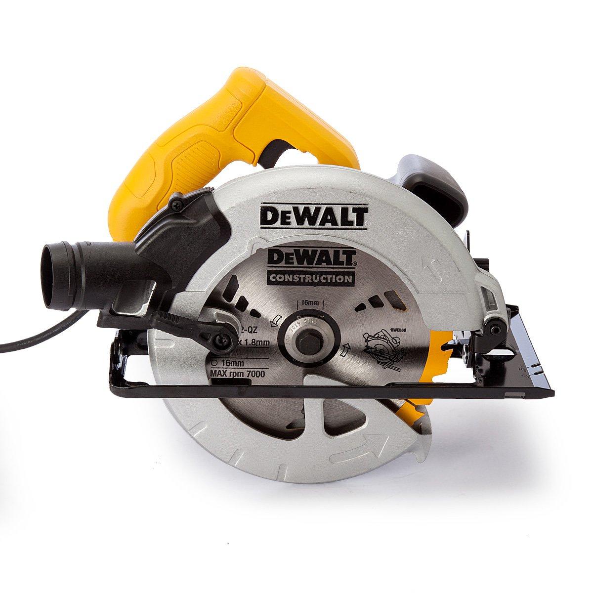 dewalt skil saw. dewalt 110v 184mm 65mm compact circular saw in kitbox: amazon.co.uk: diy \u0026 tools dewalt skil