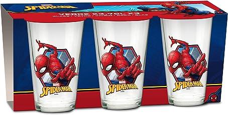 empireposter Glas-Set - Spider-Man - 237 ml - 3 Gläser - Trinkglas Kinder Geschirr