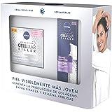 NIVEA Pack Hyaluron Cellular Filler Antiedad y Extra Firmeza, caja de regalo con crema antiedad de día (1 x 50 ml) y sérum fa