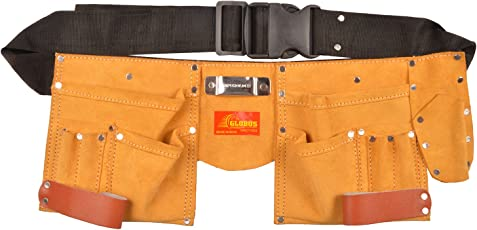 Globus Leather Tool Apron, 18.5x7-inches (Brown and Black)