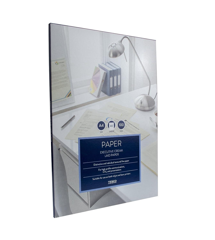 2 Pack: Tesco A4 Laid Paper Cream Sheets 100gsm Executive Writing ...