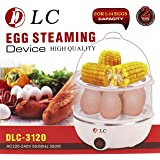 DLC Egg Steaming Device Double layer 14 Eggs Boil Capacity White