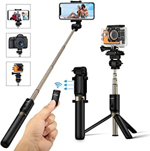 3 in 1 Extendable Selfie Stick Tripod with Detachable Bluetooth Wireless Remote Lightweight Phone Holder for iPhone//Samsung//Huawei Android 3.5-6 inch Smartphones and More SYOSIN Selfie Stick