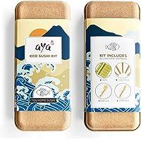 AYA ECO Kit à Sushi - Kit 100% Biodégradable et Respectueux de la Nature - Bambou 100% Naturel - Kit Bambou pour Maki…