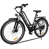 "Vivi 26"" Bici elettrica da Città/Trekking/Montagna, Batteria agli ioni di Litio da 36V/8Ah, Bici elettrica a 7 velocità…"