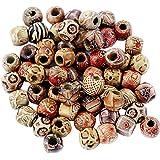 Snner 100 stuks houten kralen ballen spacer tussenparels sieraden DIY knutselen - #2