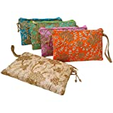 GoldGiftIdeas Traditional Vintage Embroidered Potli Purse for Women with Zipper, Potli Bags for Return Gifts, Potli Pouches f