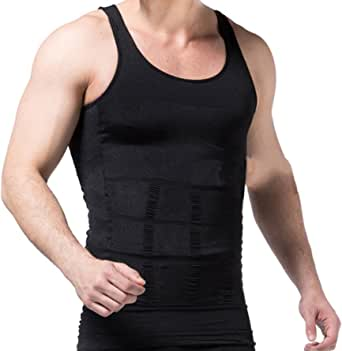 Men's Slimming Vest Warm Instant Weight Loss Belly Fat Love Handles Remover Body Shaper Firms Abdomen Back Support Compression Fit Gynecomastia