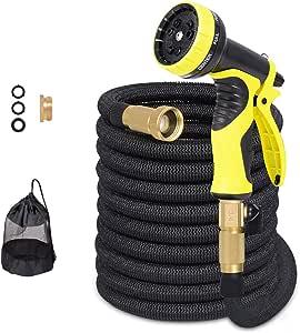 Tubo da giardino Mencom Nuovo tubo da giardino a scomparsa Tubo da irrigazione per irrigazione per lavaggio auto da giardino (50 piedi)