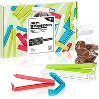 com-four® 26x Clips de Fermeture XL en Plastique - Clips de Fermeture de Tailles et de Couleurs Pratiques - Clips pour…