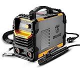 DEKO Soudeuse MMA 220 V, support d'électrode de Machine à souder ARC 200A, pince de travail, câble adaptateur d'alimentation