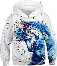 Bettydom Jungen Sweatshirts Cozy Sweater Freizeit mit 3D Mutern Pullover Top Locker für Kinder