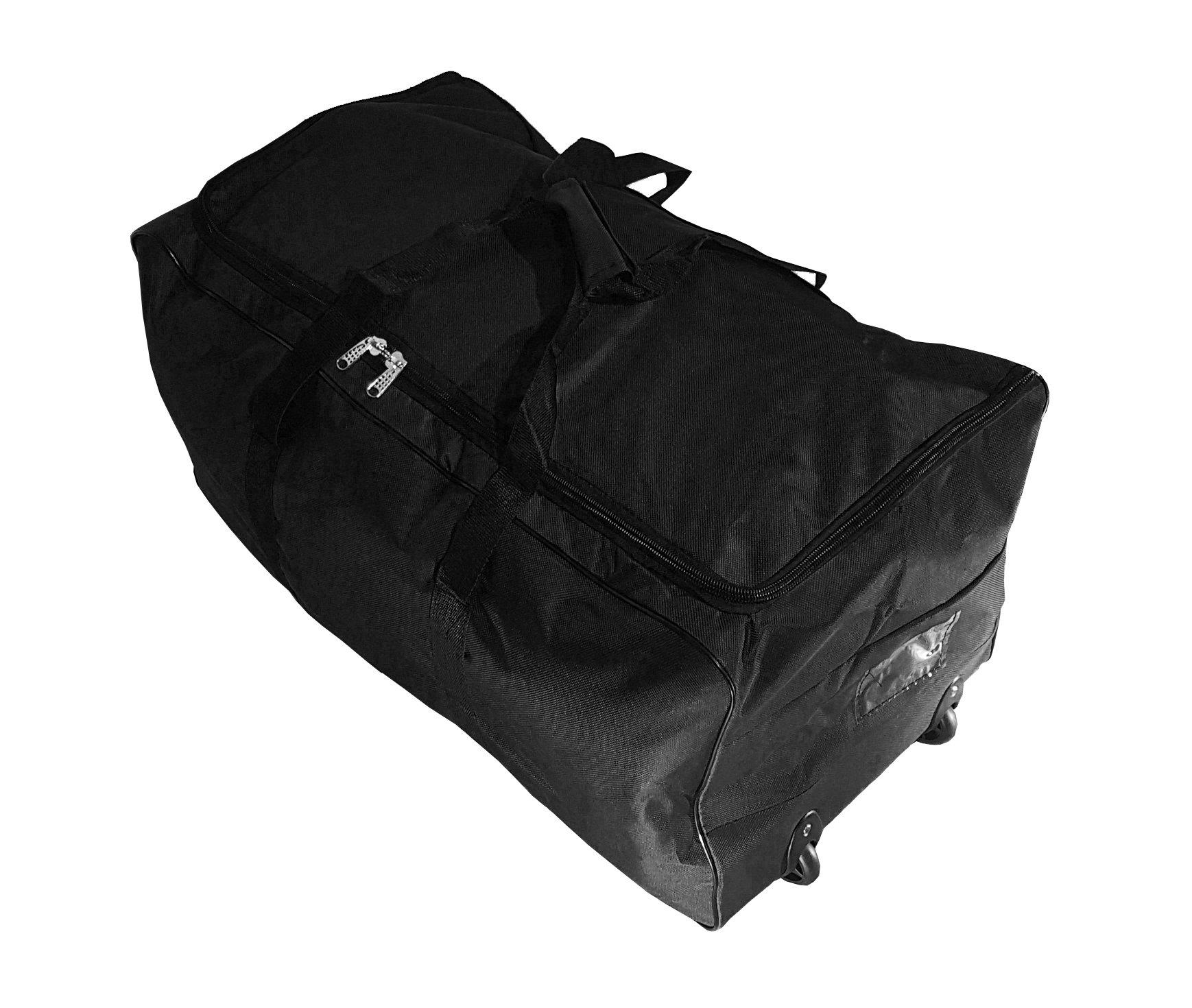 3bb3d07e5 Bolsa de viaje deportes maleta trolley grande 140L con ruedas. Talla XXL.  Negro