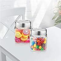 Treo by Milton Cube Storage Glass Jar Set of 2, 180 ml