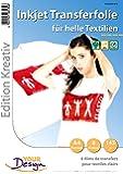 Your Design Bügelfolie: 8 T-Shirt Transferfolien für weiße Textilien A4 Inkjet (Bügeltransferfolie)