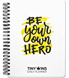 TinyChange TinyWins Daily Planner Schedule Your Day, Achieve Goals, Manage to-do List and Track Wellness A5 Size…