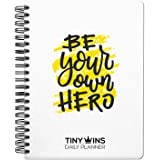 TinyChange TinyWins Daily Planner Schedule Your Day, Achieve Goals, Manage to-do List and Track Wellness A5 Size, Undated for