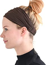 Casualbox Mens Head Cover Band Bandana Stretch Hair Style Japanese Brown