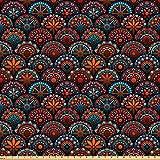 ABAKUHAUS Mandala Stoff als Meterware, Geometrische