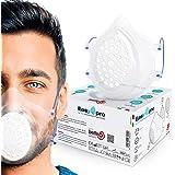 LAEFFE6 Kit Mascherina Trasparente in Silicone e 30 filtri - Made in Italy - Protezione Totale di Naso e Bocca