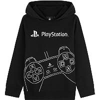 Playstation Felpe con Cappuccio per Ragazzi, Felpa Bambino in Cotone 7-15 Anni, Regalo per Gamers