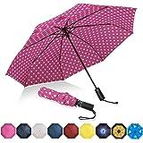 Amazon Brand - Eono Regenschirm Taschenschirm Kompakter Falt-Regenschirm, Winddichter, Auf-Zu-Automatik, Teflonbeschichtung,