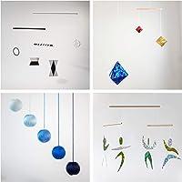 Set of 4 Montessori inspired mobiles - Black and white mobile, Blue Gobbi, Dancers, Octahedron. Montessori mobile. Baby…