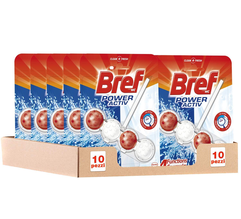 Bref Wc Poweractive Candeggina Detergente Profumatore Wc In