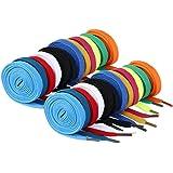 WINOMO lacci per scarpe 12 Paia stringhe scarpe per bambini adulti scarpe da sport ginnastica scarpe da ginnastica (colori ca