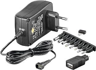 Universal Netzteil 1500mA 3V / 4,5V / 5V / 6V / 7,5V / 9V / 12V inkl. 8 Adapterstecker plus USB