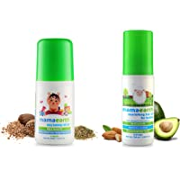 Mamaearth Easy Tummy Roll On for Digestion & Colic Relief with Hing & Fennel 40Ml & Nourishing Hair Oil for Babies 100ml (0-10 Years) Combo